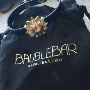 Gorgeous BaubleBar Leather & Rhinestone Bracelet